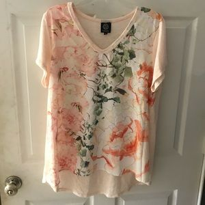 Peach Flower Vine Top